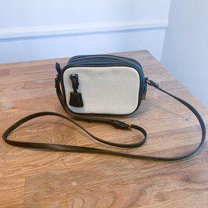 Jcrew Mini Signet Crossbody Bag in Black & White